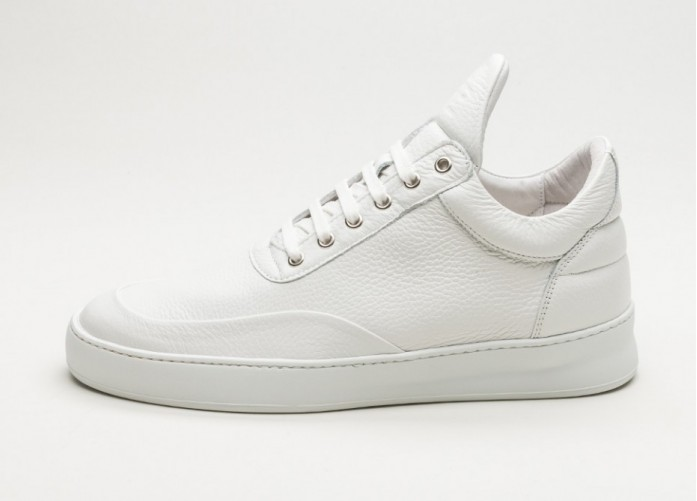 Мужские кроссовки Filling Pieces Low Top Grain (White) | Интернет-магазин Sole