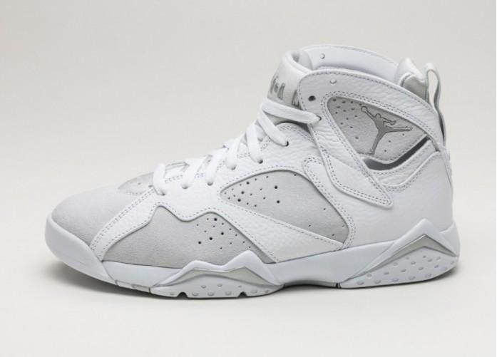 Мужские кроссовки Nike Air Jordan 7 Retro *Pure Money* (White / Metallic Silver - Pure Platinum) | Интернет-магазин Sole
