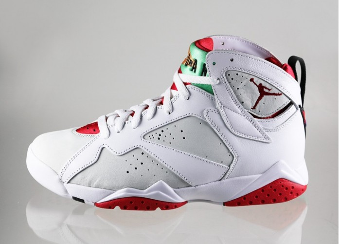 Мужские кроссовки Nike Air Jordan 7 Retro *Hare* (white / true red - light silver - tourmaline) | Интернет-магазин Sole