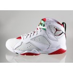 Мужские кроссовки Nike Air Jordan 7 Retro *Hare* (white / true red - light silver - tourmaline), фото 1 | Интернет-магазин Sole