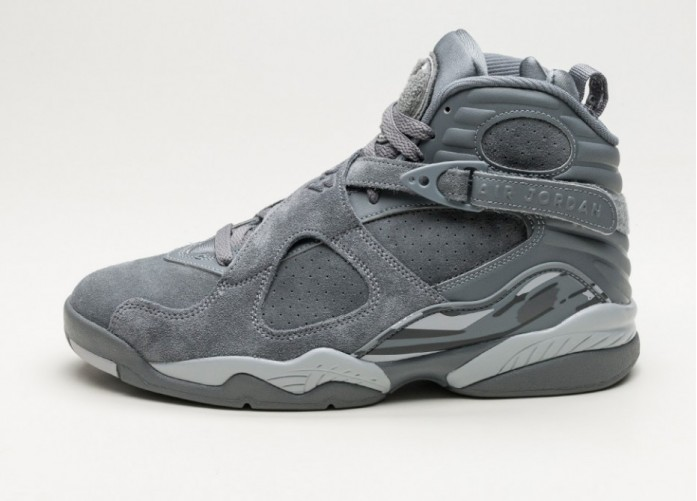 Мужские кроссовки Nike Air Jordan 8 Retro (Cool Grey / Wolf Grey - Cool Grey) | Интернет-магазин Sole