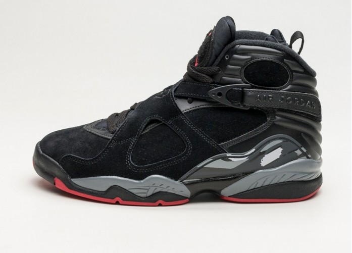 Мужские кроссовки Nike Air Jordan 8 Retro (Black / Gym Red - Black - Wolf Grey) | Интернет-магазин Sole