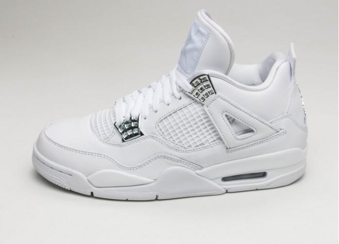 Мужские кроссовки Nike Air Jordan 4 Retro *Pure Money* (White / Metallic Silver - Pure Platinum) | Интернет-магазин Sole