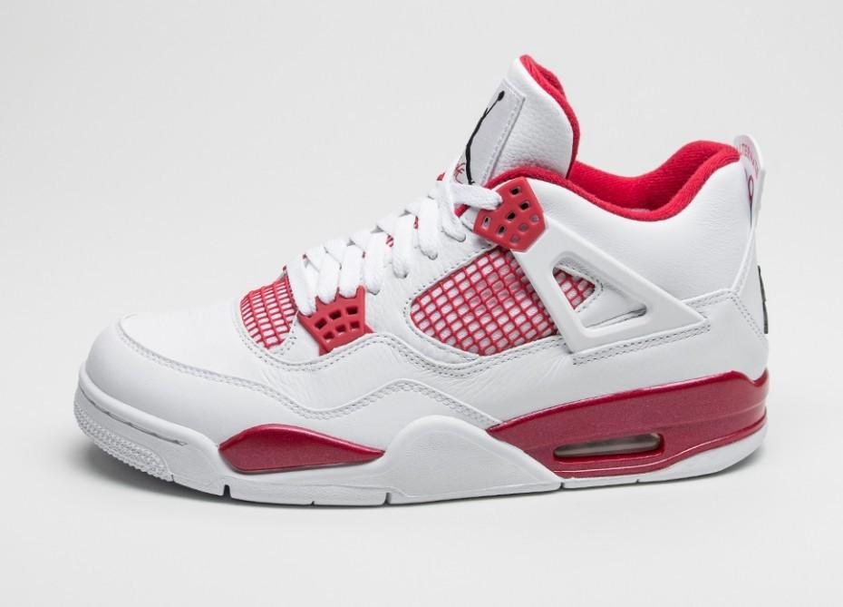 368a7a62 Мужские кроссовки Nike Air Jordan 4 Retro *Alternate* (White / Black - Gym