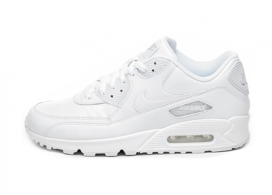 90334308 Кроссовки Nike Air Max 90 Leather (True White / True White) | Интернет-