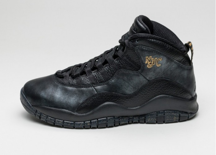 Мужские кроссовки Nike Air Jordan 10 Retro *NYC* (Black / Black - Dark Grey - Metallic Gold) | Интернет-магазин Sole