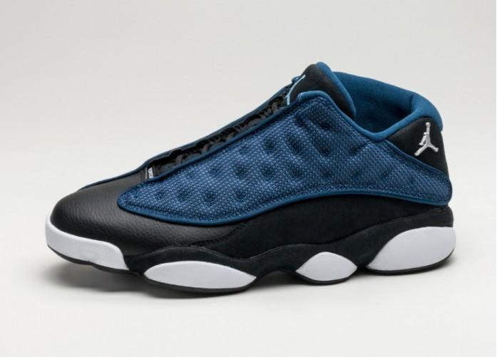Мужские кроссовки Nike Air Jordan 13 Retro Low (Brave Blue / Metallic Silver - Black) | Интернет-магазин Sole