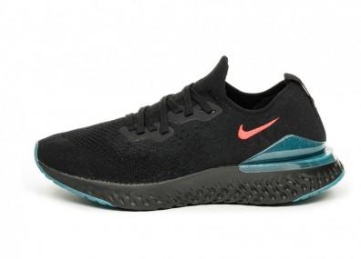 Кроссовки Nike Epic React Flyknit 2 *Späti* (Black / Bright Crimson - Blue Fury)