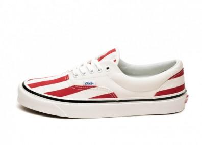 Кроссовки Vans Era 95 DX *Anaheim Factory* (OG White / OG Red / Big Stripes)