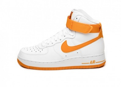 Кроссовки Nike Wmns Air Force 1 High (White / Orange Peel - Campfire Orange)