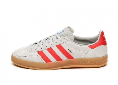 Кроссовки adidas Gazelle Indoor (Grey Two / Active Red / Blue Bird)