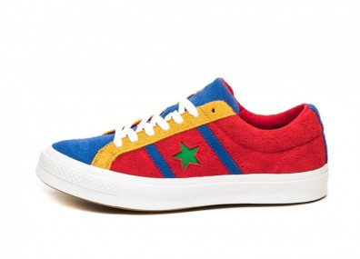 Кроссовки Converse One Star Academy OX (Enamel Red / Blue / White)