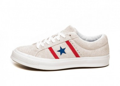 Кроссовки Converse One Star Academy OX (White / Enamel Red / Blue)