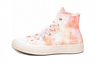 Кроссовки Converse Chuck Taylor All Star '70 Hi *Beach Dye* (90s Pink / Melon Baller / Egret)