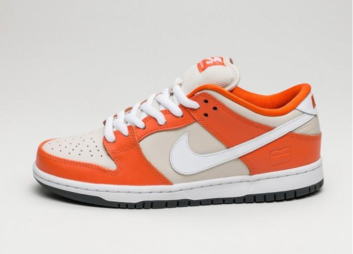 Мужские кроссовки Nike SB Dunk Low Premium (Safety Orange / White - Cream - Pure Platinum) | Интернет-магазин Sole