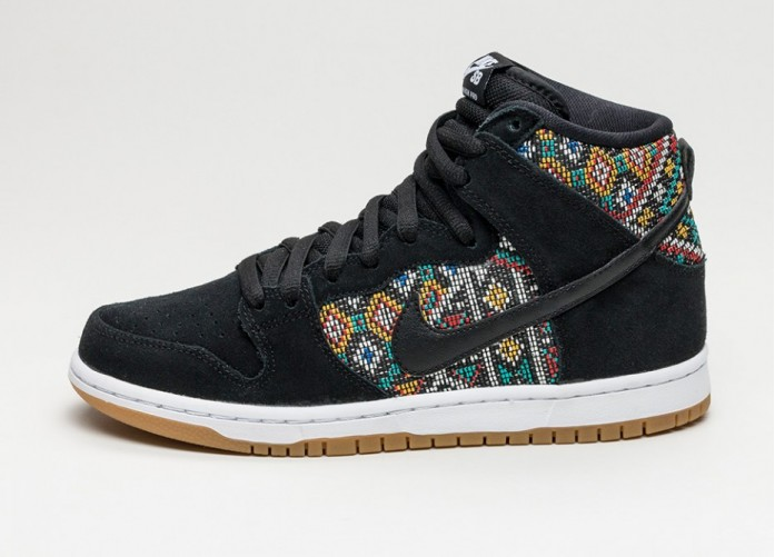 Мужские кроссовки Nike SB Dunk High PRM *Seat Cover* (Black / Black - Rio Teal - White) | Интернет-магазин Sole