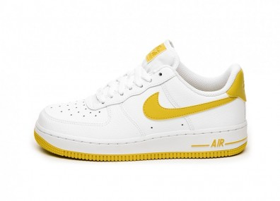 Кроссовки Nike Wmns Air Force 1 '07 (White / Bright Citron)
