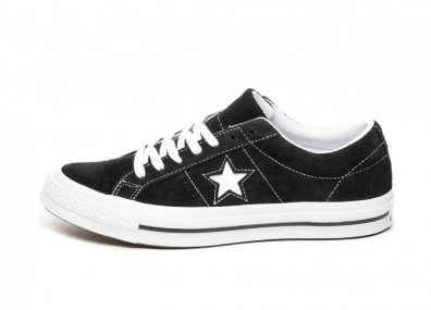 Кроссовки Converse One Star Ox (Black / White / White)