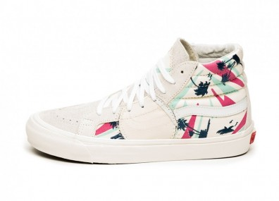 Кроссовки Vans Vault Sk8-Hi Bricolage LX *Embroidered Palm* (Classic White / Multi / Marshmallow)
