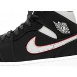 Кроссовки Nike Air Jordan 1 Mid (Black / Particle Grey - White - Gym Red), фото 5 | Интернет-магазин Sole