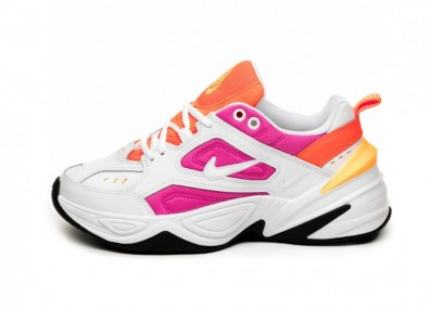 Кроссовки Nike Wmns M2K Tekno (White / White - Laser Fuchsia - Hyper Crimson)