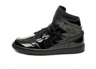 Кроссовки Nike Wmns Air Jordan 1 Mid (Black / Black - Black)
