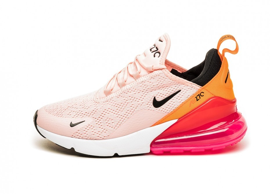 AH6789 603 Nike Wmns Air Max 270 Washed CoralBlack Laser Fuchsia