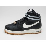 Мужские кроссовки Nike Air Force 1 High \'07 (Black / Sail - Wolf Grey - Gum Light Brown), фото 1 | Интернет-магазин Sole