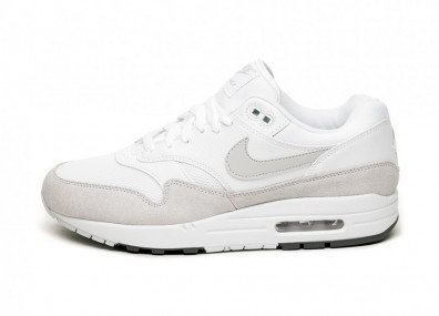 Кроссовки Nike Air Max 1 (White / Pure Platinum - Cool Grey)