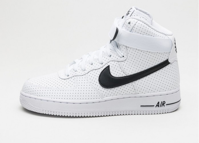 Мужские кроссовки Nike Air Force 1 High \'07 (White / Black - White) | Интернет-магазин Sole