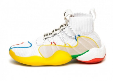 Кроссовки adidas x Pharrell Williams Crazy BYW LVL (Ftwr White / Supplier Colour / Supplier Colour)