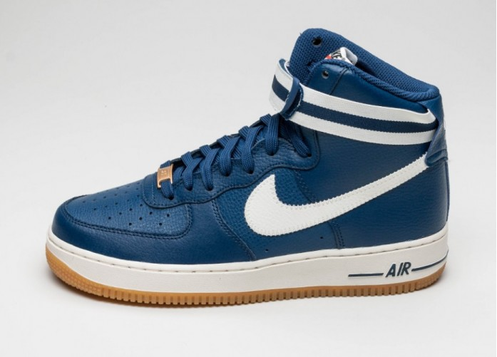Мужские кроссовки Nike Air Force 1 High \'07 (Costal Blue / Sail - Gum Light Brown - Wolf Grey) | Интернет-магазин Sole