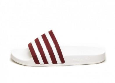 Тапочки adidas Adilette (Collegiate Burgundy / Ftwr White / Off White)