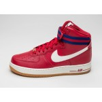 Мужские кроссовки Nike Air Force 1 High \'07 (Gym Red / Sail - Deep Royal Blue - Gum Light Brown), фото 1 | Интернет-магазин Sole