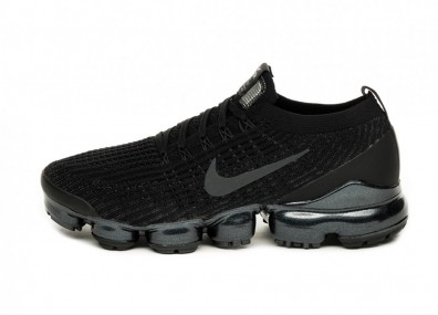Кроссовки Nike Air Vapormax Flyknit 3 (Black / Anthracite - White - Metallic Silver)