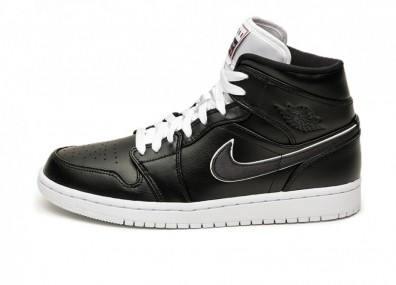 Кроссовки Nike Air Jordan 1 Mid SE *Maybe I Destroyed The Game* (Black / Black - White)
