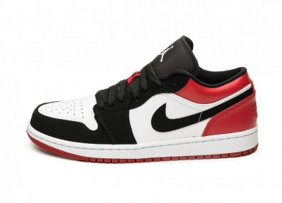Кроссовки Nike Air Jordan 1 Low *Black Toe* (White / Black - Gym - Red)