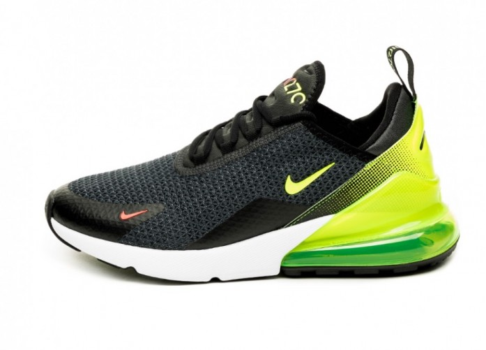 Кроссовки Nike Air Max 270 SE (Anthracite / Volt - Black - Bright Crimson) | Интернет-магазин Sole