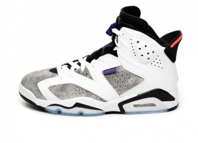 Кроссовки Nike Air Jordan 6 Retro LTR *Flint Grey* (White / Dark Concord - Black - Infrared 23)