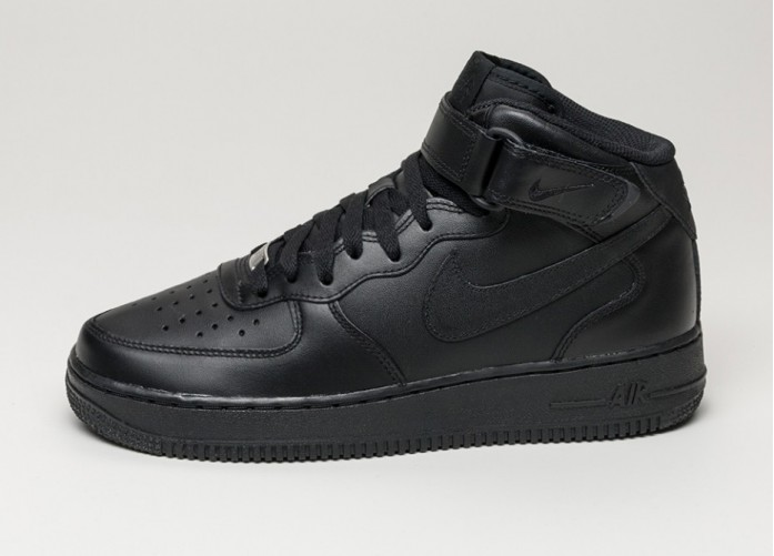 Мужские кроссовки Nike Air Force 1 Mid (black / black) | Интернет-магазин Sole