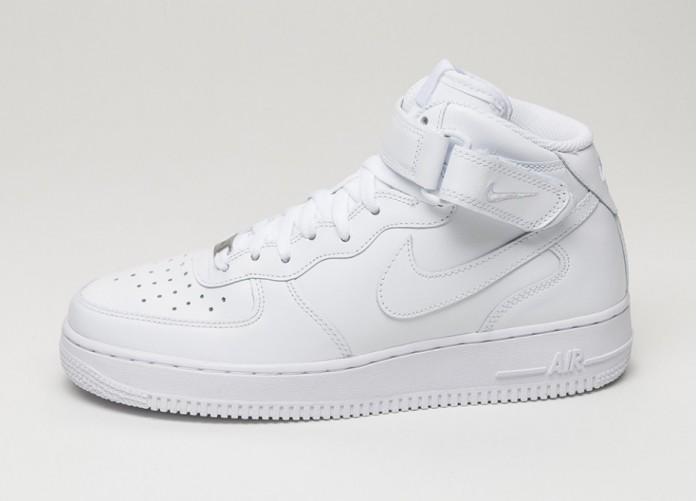 Мужские кроссовки Nike Air Force 1 Mid (white / white) | Интернет-магазин Sole