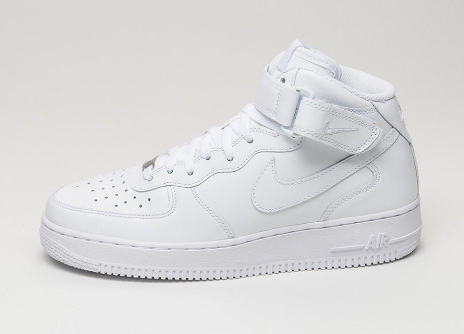 2d5d67a8 Мужские кроссовки Nike Air Force 1 Mid (white / white) | Интернет-магазин