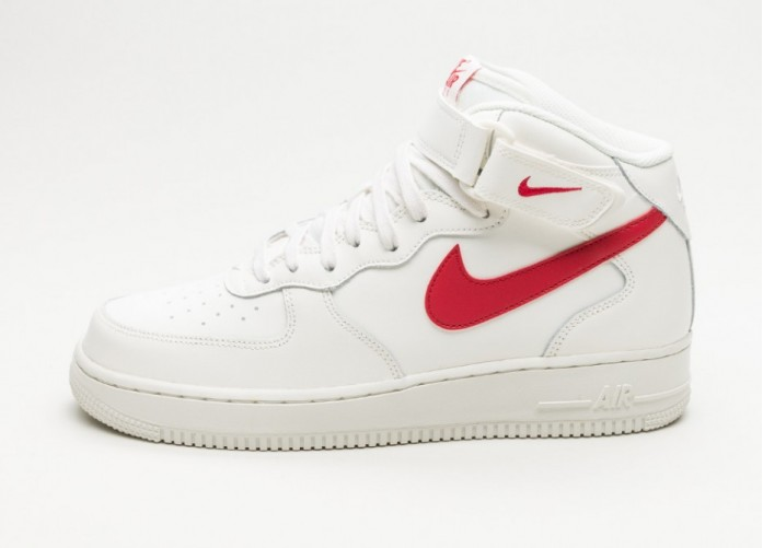 Мужские кроссовки Nike Air Force 1 Mid '07 (Sail / University Red) | Интернет-магазин Sole