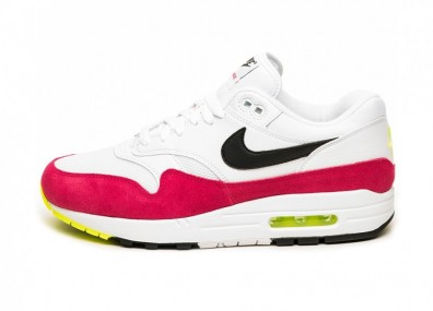 Кроссовки Nike Air Max 1 (White / Black - Volt - Rush Pink)