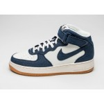 Мужские кроссовки Nike Air Force 1 Mid \'07 (Obsidian / Obsidian - Sail - Gum Light Brown), фото 1 | Интернет-магазин Sole