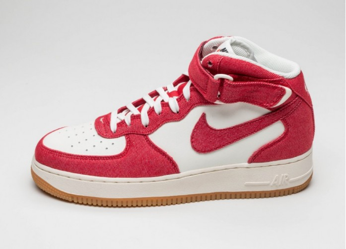 Мужские кроссовки Nike Air Force 1 Mid \'07 (University Red / University Red - Sail - Gum Light Brown) | Интернет-магазин Sole