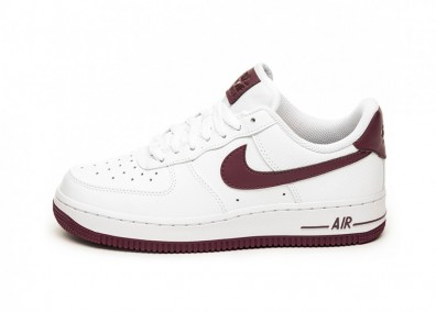 Кроссовки Nike Wmns Air Force 1 '07 (White / Bordeaux)