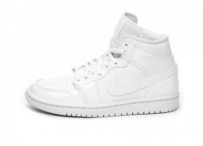 Кроссовки Nike Wmns Air Jordan 1 Mid (White / White - White)