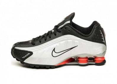 Кроссовки Nike Shox R4 (Black / Metallic Silver - Max Orange)