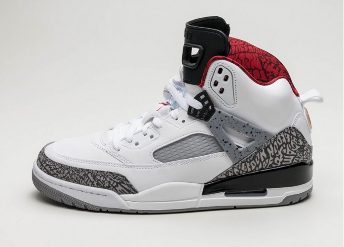 Мужские кроссовки Nike Air Jordan Spizike (White / Varsity Red - Cement Grey - Black) | Интернет-магазин Sole